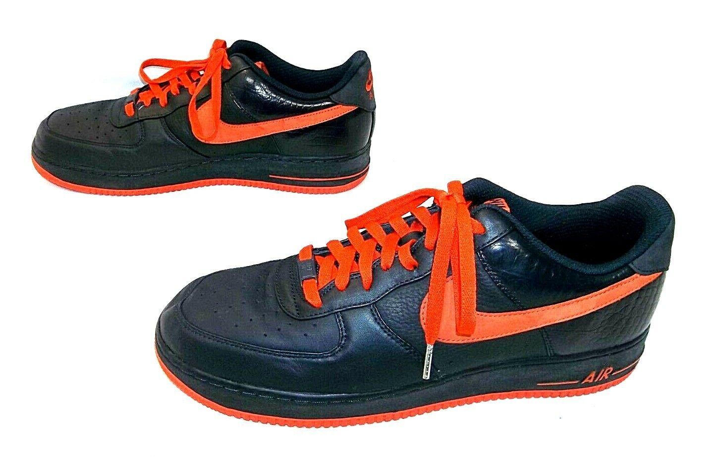 Nike Air Force 1 Low Low Low Premium 13 318775-481 DRK OBSIDIAN TM ORNG-DRK OBSDN CROC ba34e0