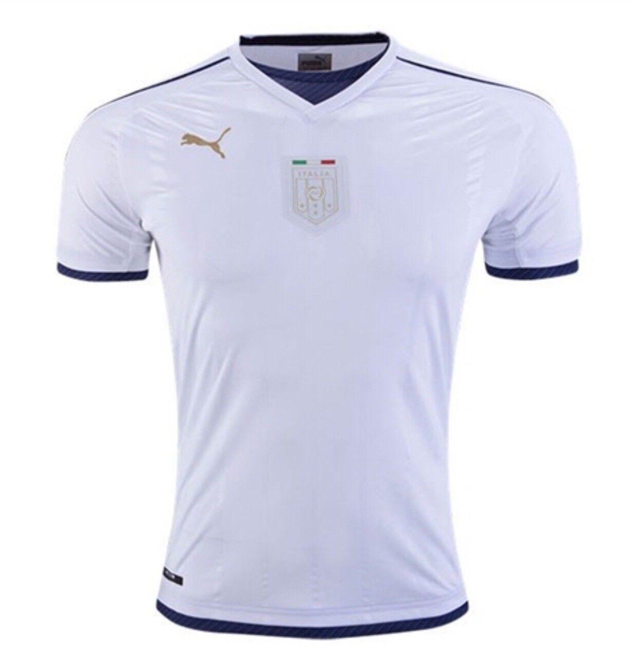 PUMA Herren FIGC TRIBUTE AWAY ITALIA Weiß PEACOAT JERSEY DRY CELL ITALIAN NWT