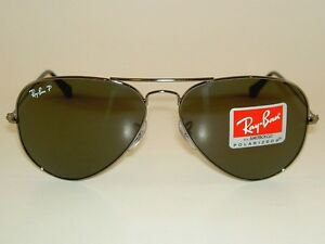 8e0dd61487 Image is loading New-RAY-BAN-Aviator-Sunglasses-Polarized-Green-RB-