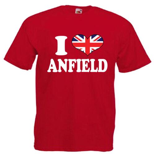 I Love Anfield Liverpool Children/'s Kids T Shirt
