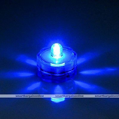 LED Decor Submersible Waterproof Candles Floral Fountain Pond Batteries Light