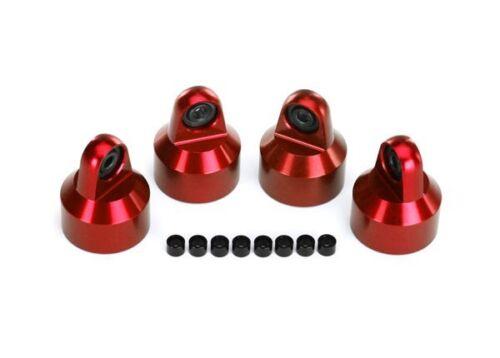 Traxxs X-Maxx Shock Caps Aluminum (red-anodized) - TRA7764R