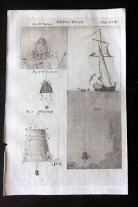 Encyclopaedia-Perthensis-1816-Antique-Print-Diving-Bells-208