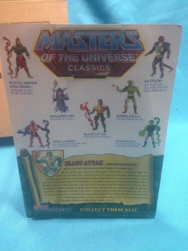 Masters Masters Masters of the Universe Classic BLAST ATTAK  FIGURE. NIB 2014 759845