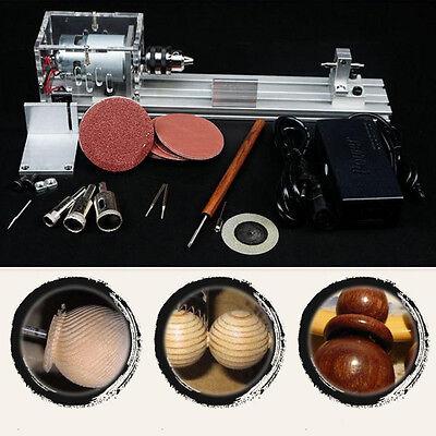 Mini Lathe Beads Polishing Cutting Machine DIY Table Saw Drill Woodworking Kit