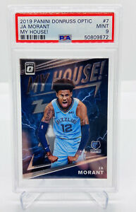 2019-20-PANINI-DONRUSS-OPTIC-JA-MORANT-MY-HOUSE-7-ROOKIE-RC-PSA-9-ZION-PRIZM