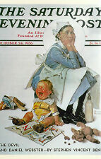The Nanny  Norman Rockwell  The Saturday Evening Post   Reprint Postcard 8174