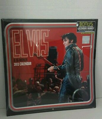 Elvis Presley 2013 Calendar 16 mon shrink wrap Signature product Mead New
