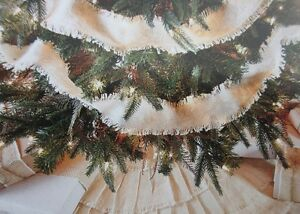 Details About Burlap Creme Fringed Garland 108x2 Soft Cotton W On And Hole