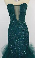 Jovani Size 0 Strapless Hunter Long Mermaid Formal Prom $620 Dress Cruise Gown