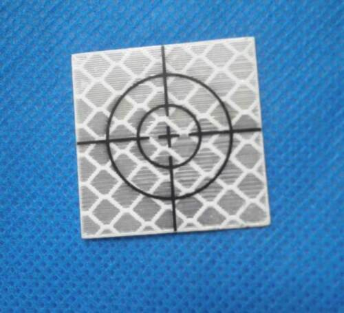 Target riflettenti rifrangenti adesivi 50x50mm con croce di mira 20 pezzi nuovi