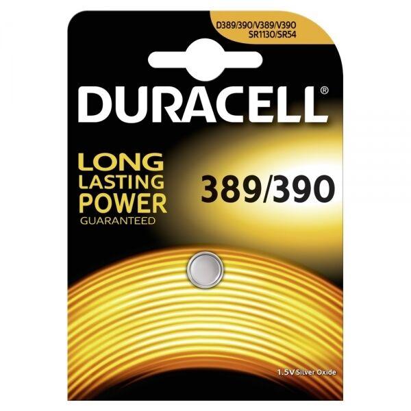 20 x Duracell 390 389 1,55V Uhrenbatterie Knopfzelle SR1130W SR54 SR1130 70mAh | Ideales Geschenk für alle Gelegenheiten