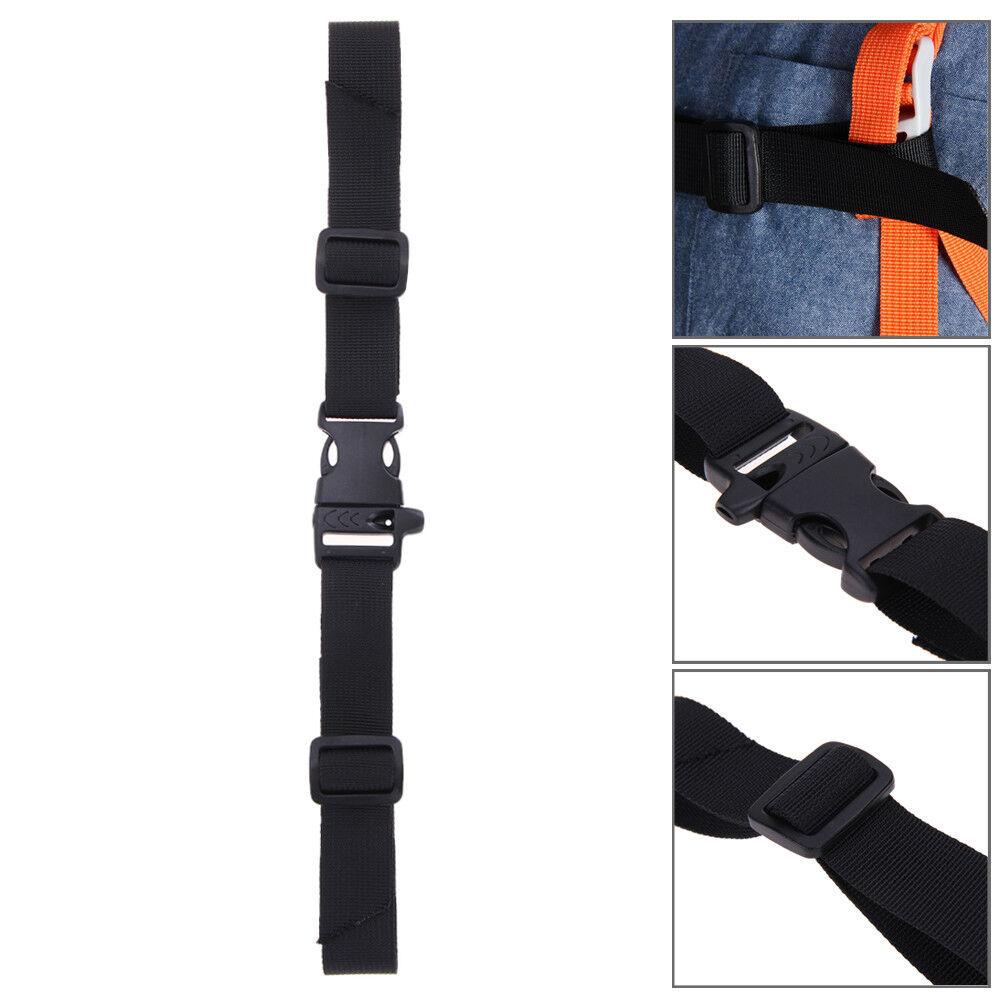 1*Non-Slip Universal Adjustable Nylon Sternum Straps Harness Chest Backpack F5U9