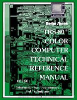 Radio Shack Trs-80 Technical Reference Manual Pdf Cdrom