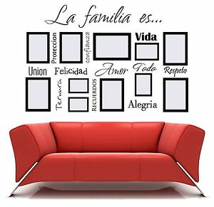 La Familia Es Spanish Vinyl Wall Decal Words Frame Lettering Sticker