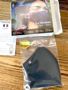 LE MASK FRANÇAIS Taille XL Masque Stratus avec filtre - respirant anti-buée noir