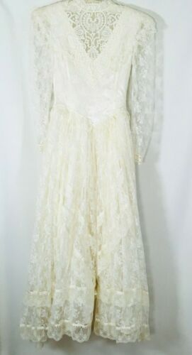 Vtg Jessica McClintock Gunne Sax Wedding dress Cot