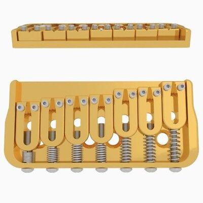 "Hipshot 41070C 7-String Fixed Electric Guitar Bridge Right 0.125/"" Floor Chrome"