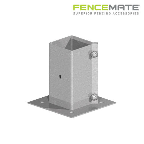 Fencemate Swift Clamp Bolt Down Fence Post Support Concrete Decking or Walls
