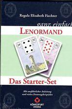 """LENORMAND GANZ EINFACH - Regula E. Fiechter - Buch & """"Weiße Eule"""" Karten"""