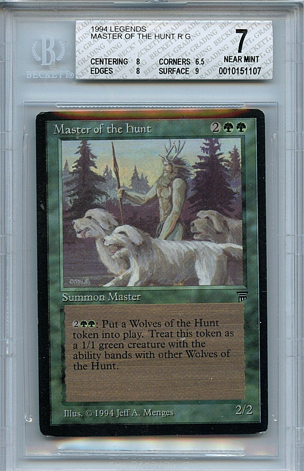 MTG Legends Master of the Hunt BGS 7.0 (7) NM card 1107