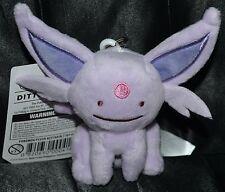 """4"""" Ditto As Espeon Poke Plush Keychain Official Pokemon Center Dolls Toys NEW"""