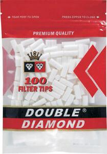 Double-Diamond-18MM-King-Size-15-Bags-Filter-100-Cigarette-Tips-Zipper-Bag