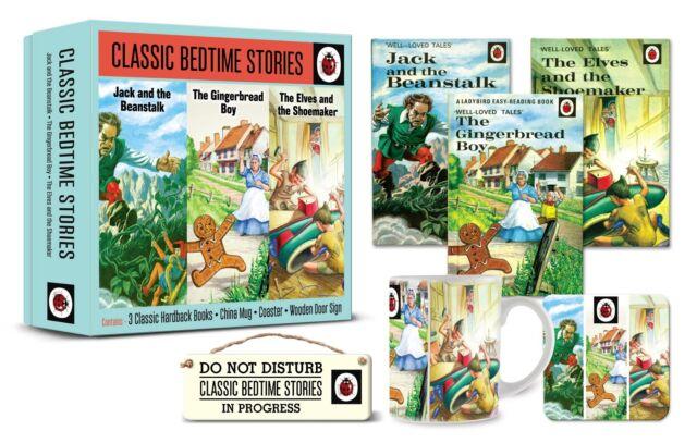 Ladybird Classic Bedtime Stories Gift Set 3 Books Mug Coaster Door Sign 4