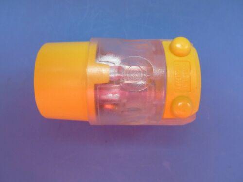 3 wire  515CV-LIT NEW Leviton Yellow Vinyl Lighted connector plug female 2 pole
