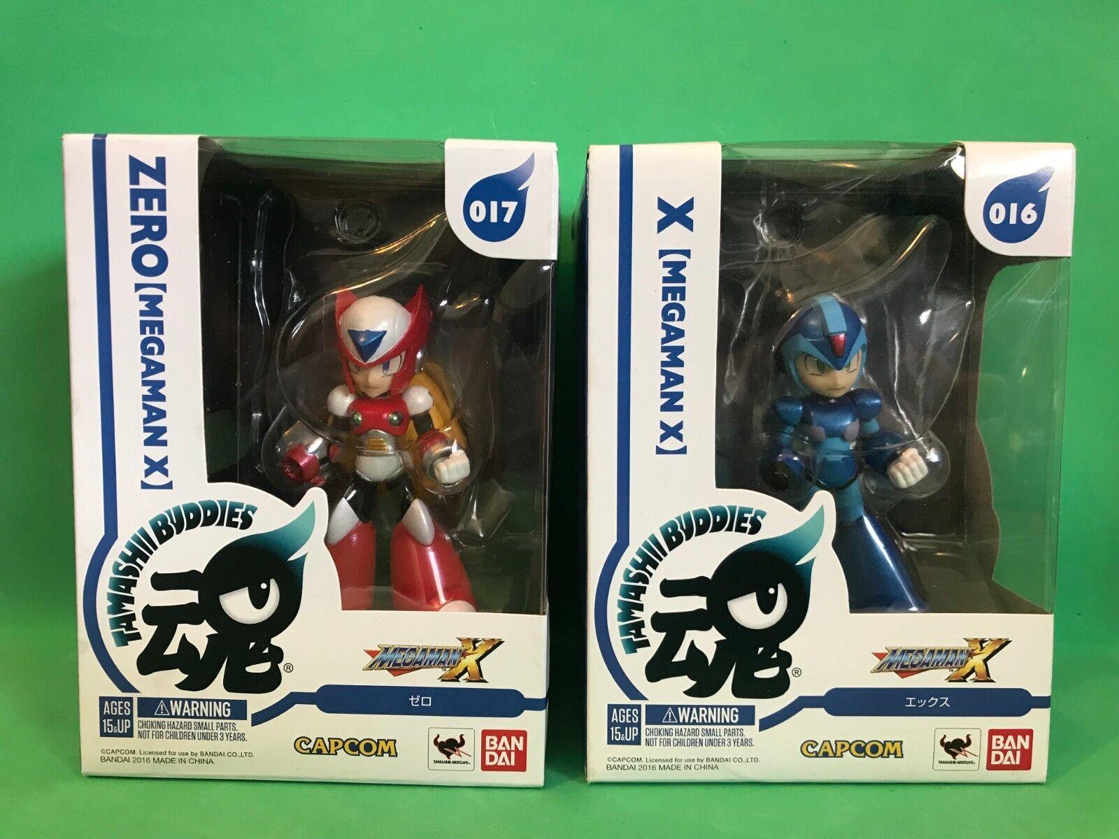 ZERO & X Megaman Megaman Megaman X Bandai Tamashi Buddies NEW NIB RARE   19bbde