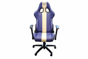 Laser Tools 6654 Laser Tools Racing Chair - Blue & White Stripe