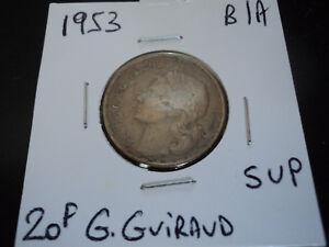 20 francs bronze alu G. Guiraud de 1953 (n2) - France - Valeur faciale: 20 Francs Métal: Bronze Personnage: Marianne Qualité: SUP Période: 1901 - 1999 - France