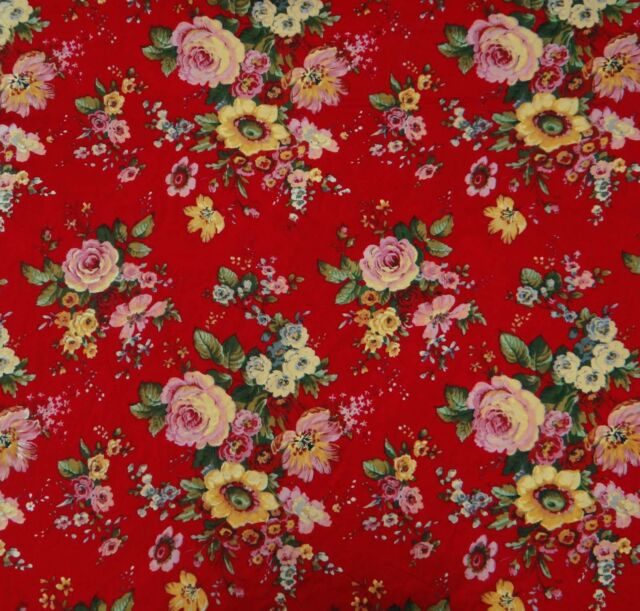 100% Cotton Red Fabric 44