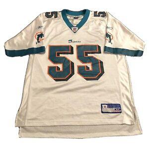 Vtg-Junior-Seau-Miami-Dolphins-Jersey-NFL-Football-White-Reebok-M-L
