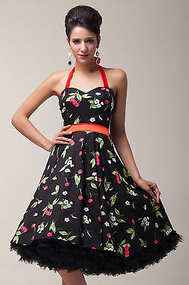 CHEAP SALE Lady Vintage Rockabilly Swing 50s 60s pinup Prom Party Evening Dress