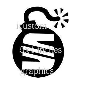 fun vinyl seat sticker bomb car decal rear window side bonnet jdm racing stock ebay. Black Bedroom Furniture Sets. Home Design Ideas