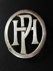 Solid Silver Monogram Initial Hp Ph Figure Solid Silver Monograms Art Deco Ebay