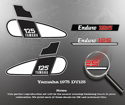 YAMAHA 1975 DT125 EXHAUST SHIELD DECAL LIKE NOS