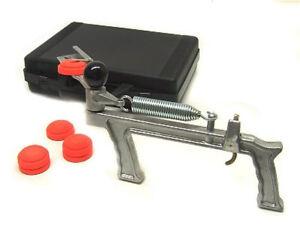 Lanciapiattelli-piccola-Sagittario-a-sgancio-manuale-a-pistola