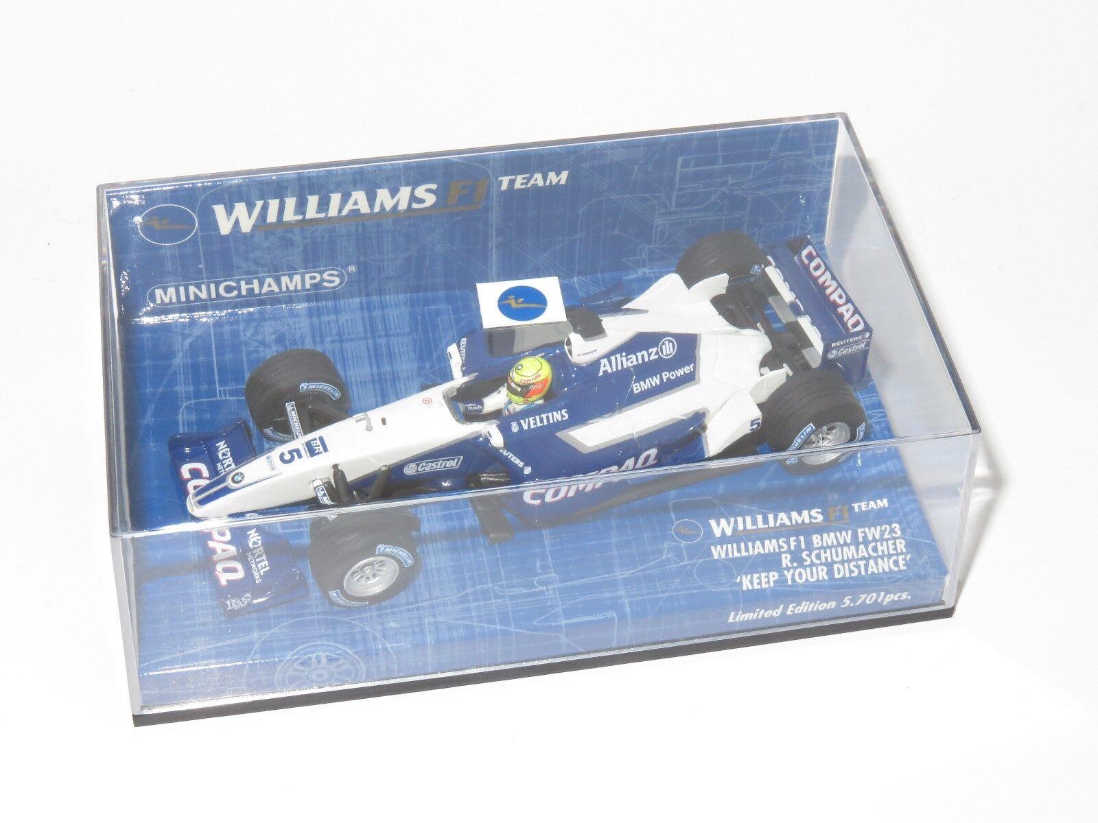 1 43 Compaq Williams BMW FW23    Keep Your Distance   2001  Ralph Schumacher 02dca8