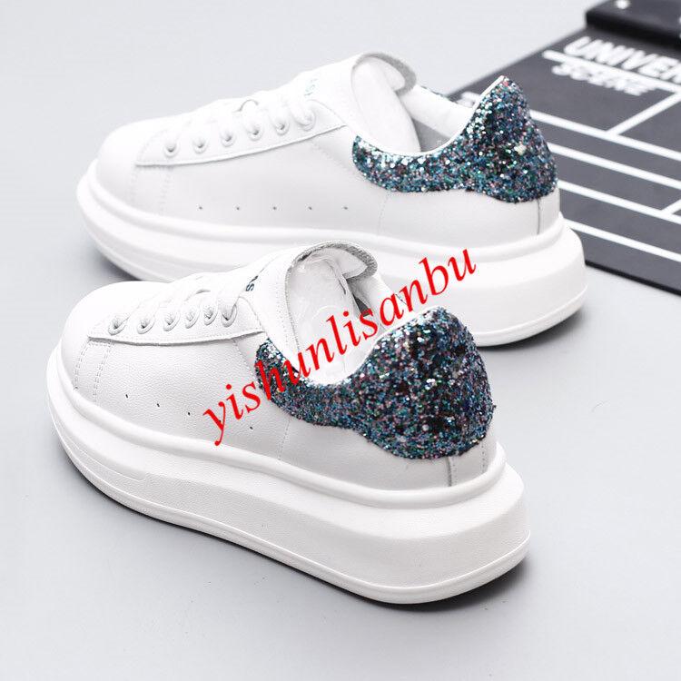Women Lace Up Athletic Round Toe Platform shoes Fashion Sneakers Pumps Sports Sz