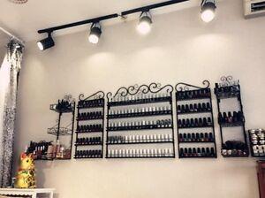 3pcs Metal Wire Makeup Nail Polish Organizer Wall Rack Stand Display