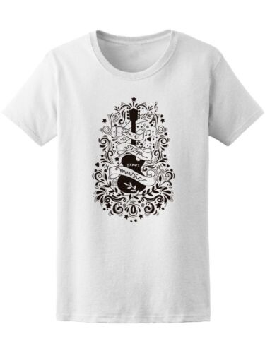 Electric Guitar Don/'t Stop Music Tee Women/'s Image by Shutterstock