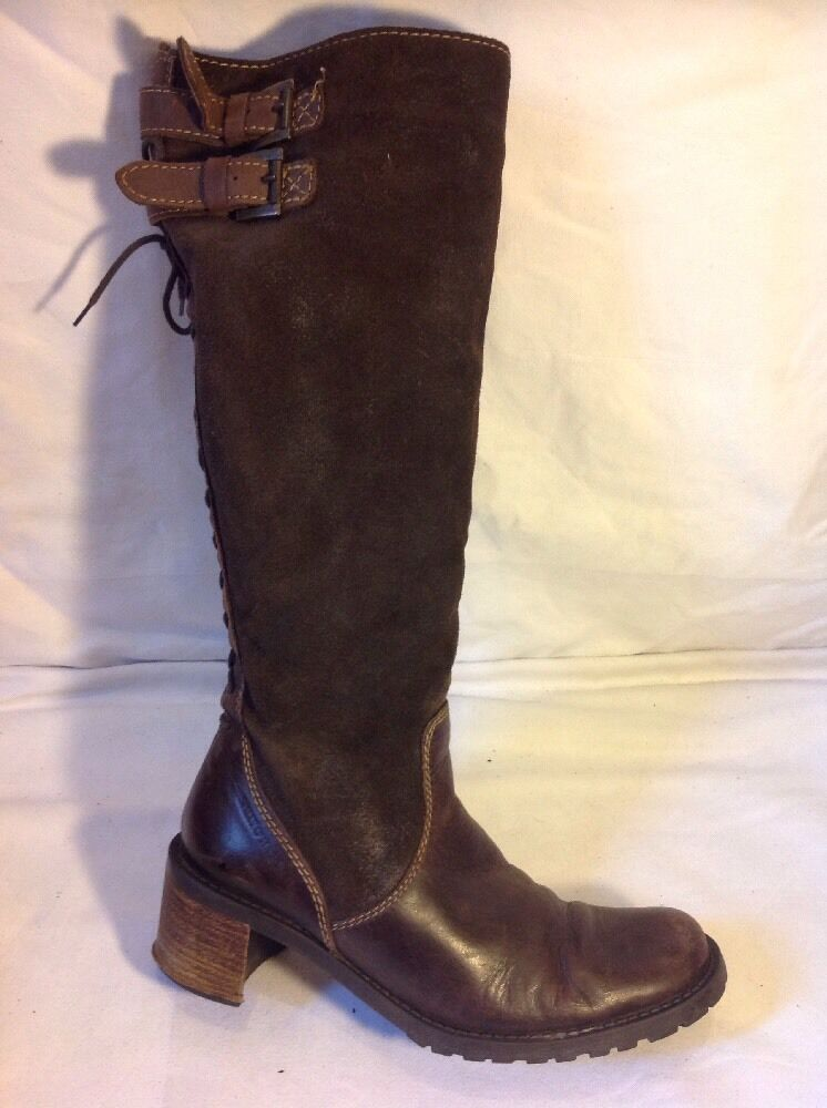 Sally O'Hara Brown Knee High Leather Boots Size 37