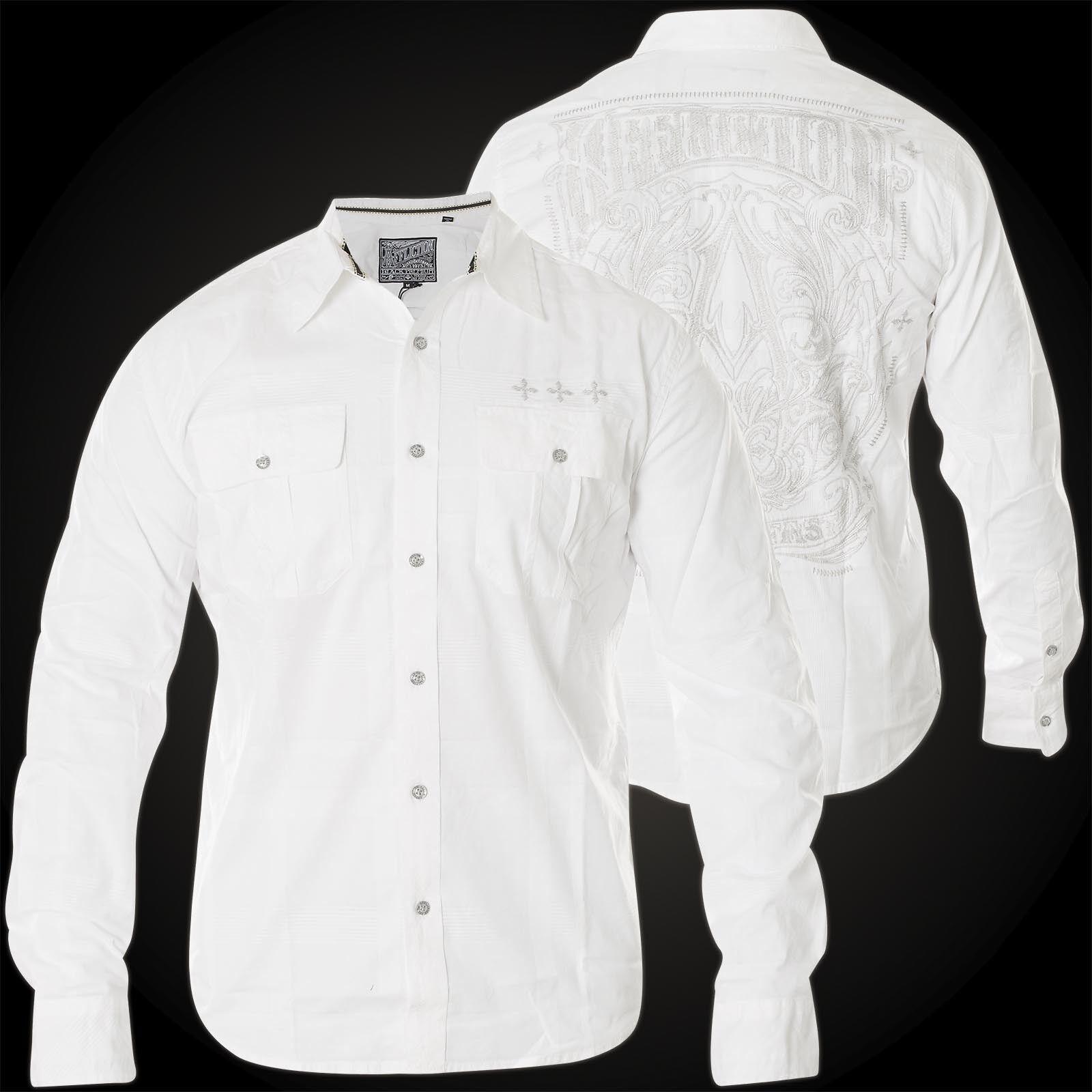 Affliction Camicia Rival elemento camicie bianco
