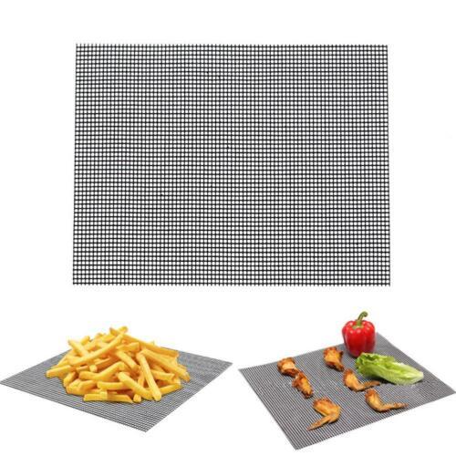 Grillmatte BBQ Grillgitter Matte Unterlage Backmatte NON-Stick TeflonAntihaft-DE