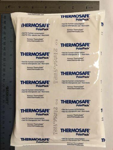 "ThermoSafe Polar Pack Foam Brick Freezer Cold Ice Packs 8/""x5.5/""x0.5/"" Lot of 8"