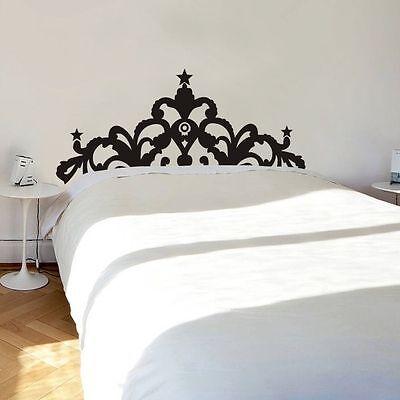 Modern Headboard Bed Board Removable Wall Decor Decor Vinyl Sticker Art Bedroom