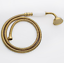 """Hand Held Shower Head  with 59/"""" Hose Luxury Polished Brass Ceramic Gold Finish"""