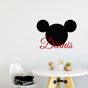 Image Is Loading Personalized Name Wall Decal Mickey Mouse Decals Head